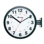 ダルトン ダブルフェイス ウォールクロック S82429BK ブラック 両面壁掛け時計の1枚目の写真