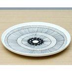 マリメッコ シイルトラプータルハ プレート 25cm ホワイト/ブラック marimekko SIIRTOLAPUUTARHAの1枚目の写真