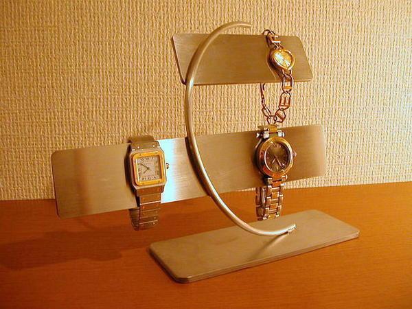 ブレスレットスタンド ステンレスバー腕時計&ブレスレッドスタンドの1枚目の写真