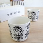 マリメッコ コーヒーカップ2個セット VIHKIRUUSU /BLACKの1枚目の写真