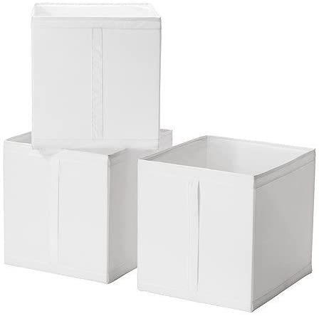 SKUBB(スクッブ) ボックス 3ピースセット ホワイト 31×34×33 cmの1枚目の写真