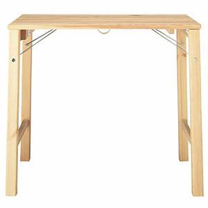 パイン材テーブル・折りたたみ式 幅80×奥行50×高さ70cm 02460792の1枚目の写真