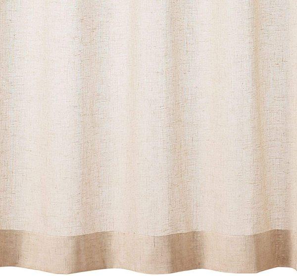 ポリエステル麻ボイルプリーツカーテン・2枚組/生成 幅100×丈176cmの1枚目の写真