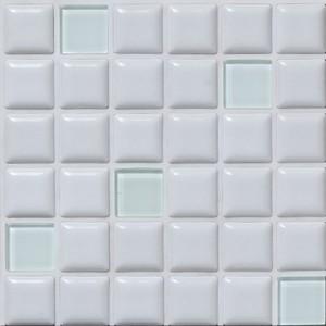 モザイクタイル プチコレガラスMIX ホワイトの1枚目の写真