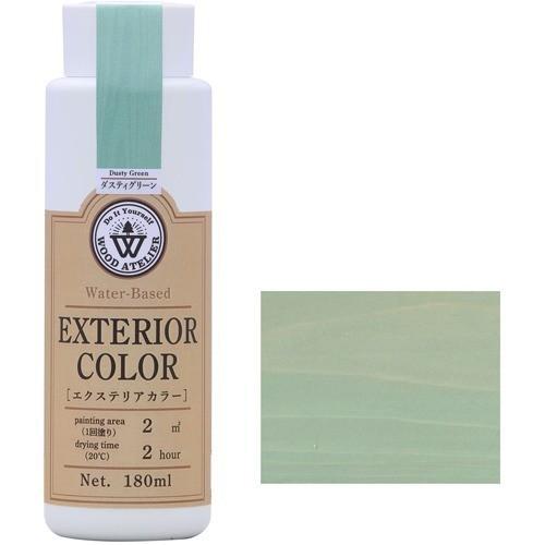 エクステリアカラー ダスティグリーン  水性着色剤 ウッドアトリエの1枚目の写真