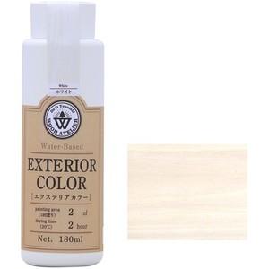 エクステリアカラー ホワイト  水性着色剤 ウッドアトリエの1枚目の写真