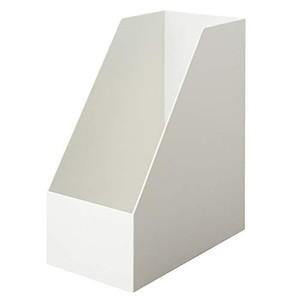 無印良品 ポリプロピレンスタンドファイルボックス・ワイド・A4用・ホワイトグレー 約幅15×奥行27.6×高さ31.8cm 38907565の1枚目の写真
