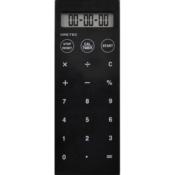 ドリテック 電卓付バイブタイマー ブラックの1枚目の写真