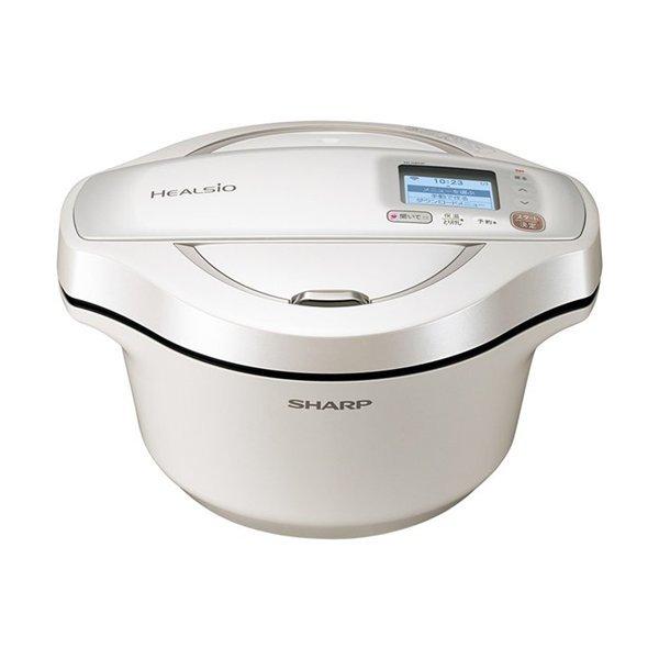 SHARP ヘルシオ ホットクック 2.4L 電気無水鍋 ホワイト系 KN-HW24F-W 色 ホワイト