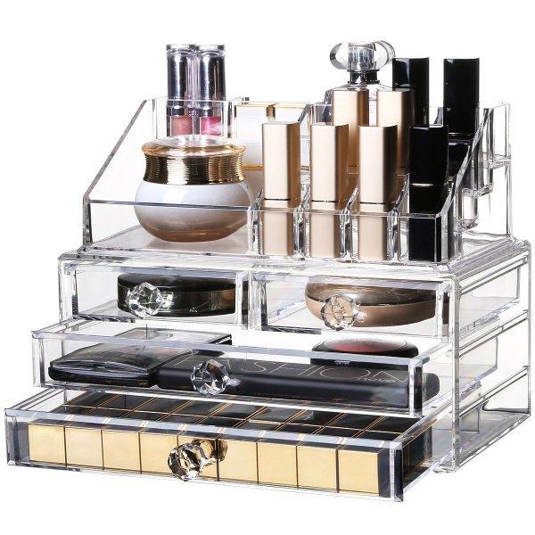 化粧品収納ボックス 化粧品収納ラック 透明化粧品ケースの1枚目の写真