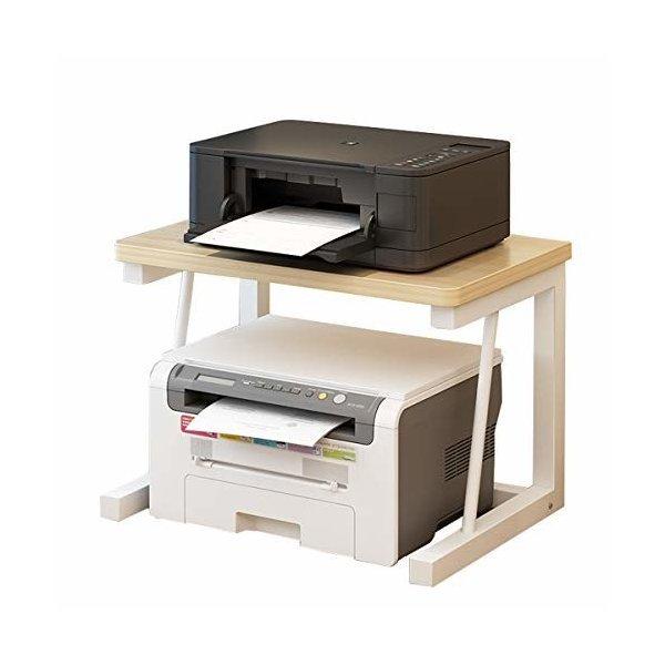 プリンター台 プリンターラック 机上プリンター棚 プリンタ台 机上収納 机上ラック組立簡単 事務所の1枚目の写真