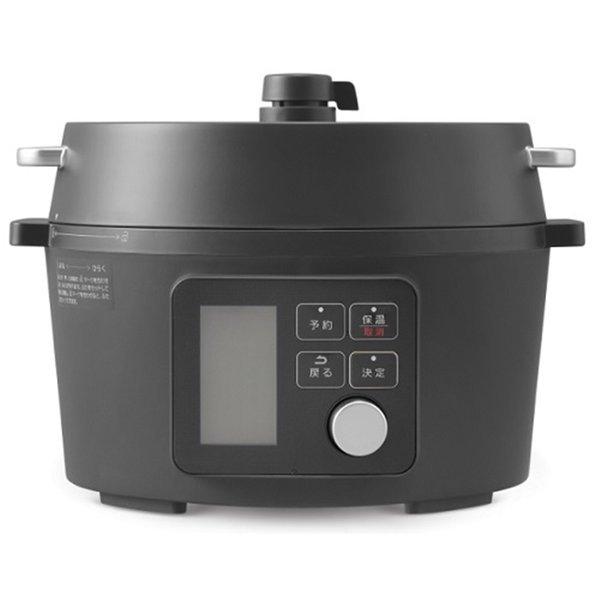 アイリスオーヤマ 電気圧力鍋 4.0L レシピブック付き ブラック KPC-MA4-Bの1枚目の写真
