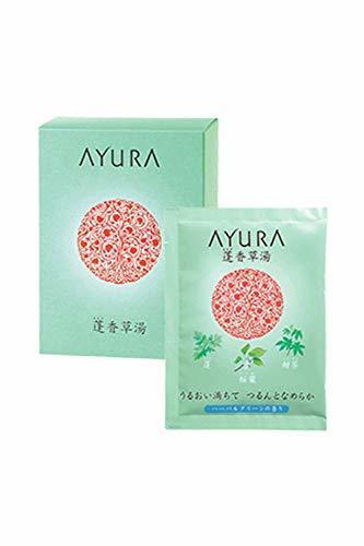 アユーラ公式 バスソルト 入浴剤 浴用化粧料 蓬香草湯 10包タイプ ハーバルグリーンの香り うるおい満ちて つるんとなめらか  AYURAの1枚目の写真