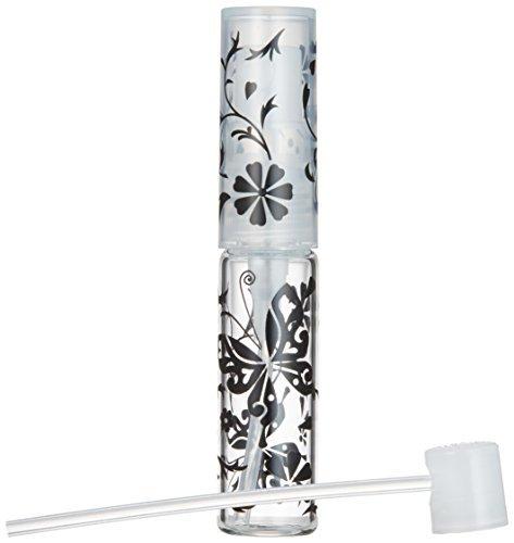 50138 グラスアトマイザー プラスチックポンプ 柄 バタフライ ブラックの1枚目の写真