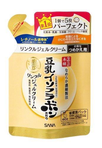 サナ なめらか本舗豆乳イソフラボンリンクルジェルクリームつめかえ用 80gの1枚目の写真