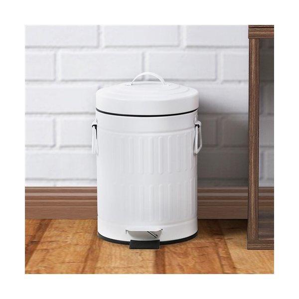 ゴミ箱 おしゃれ ふた付き ペダル開閉式 3L ホワイト ステンレス ヤマダオリジナル 中バケツが取り出せるペダル式ゴミ箱の1枚目の写真