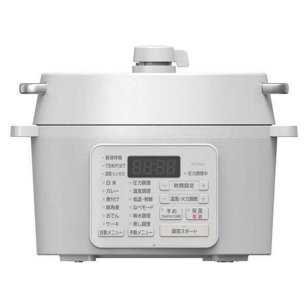 アイリスオーヤマ 電気圧力鍋 2.2L レシピブック付き ホワイト PC-MA2-Wの1枚目の写真
