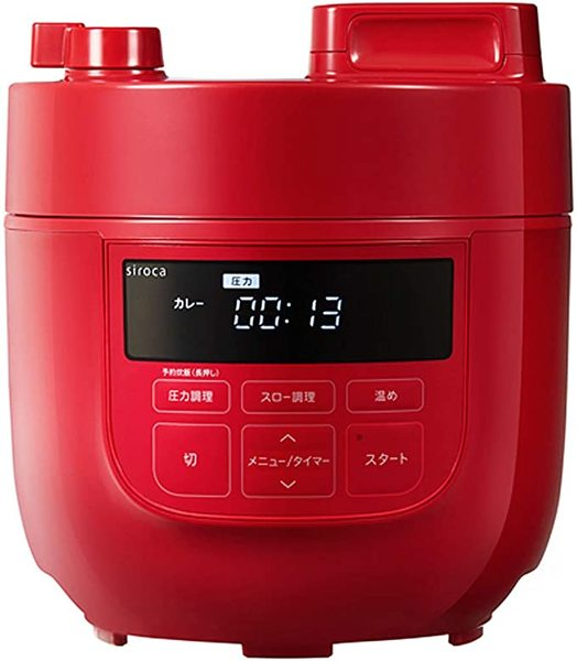 siroca 電気圧力鍋 SP-D131 ホワイト 色 レッド