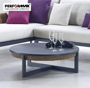ウォーターヒヤシンス ラウンドローテーブル/ソファテーブル/コーヒーテーブル/モダンアジアン家具の1枚目の写真