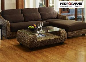 高品質 ウォーターヒヤシンステーブル PERFORMAX正規品 ウォーターヒヤシンス コーヒーテーブル ソファテーブル ローテーブル W110cm アジアンテーブル リゾート ホテル サロン バリ アジアン家具の1枚目の写真