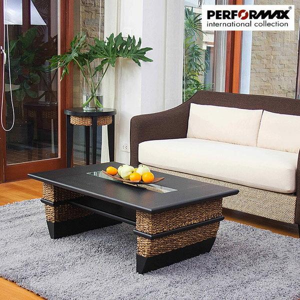 高品質 ウォーターヒヤシンステーブル PERFORMAX正規品 ウォーターヒヤシンス ローテーブル W104cm ソファテーブル センターテーブル 座卓 コーヒーテーブル アジアンテーブル バリ リゾート モダンの1枚目の写真
