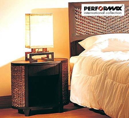 高品質 ウォーターヒヤシンス家具 PERFORMAX正規品 ウォーターヒヤシンス ベッドサイド テーブル ナイトテーブル 引出し付き アジアン テーブル リゾート ホテル バリ アジアン家具の1枚目の写真