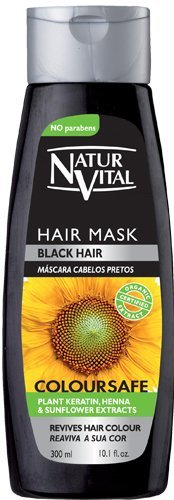 ナチュールバイタル カラーセーフヘアマスク ブラック 300ml  石澤研究所の1枚目の写真