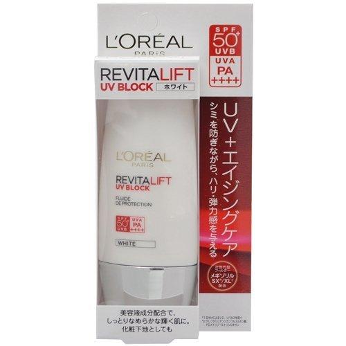 ロレアル パリ リバイタルリフト UV ブロック ホワイト 日やけ止め乳液 メイクアップベース (30g) SPF50+ PA++++の1枚目の写真