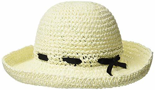 ペーパークロシェ広ツバハット PIRIKA HAT ホワイト 日本 FREE   条件付きの1枚目の写真
