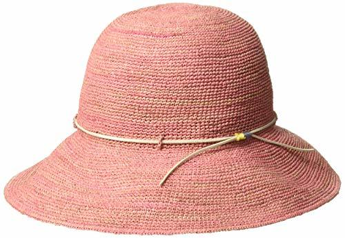 細編みラフィアハット MALDEN HAT ピンク 日本 FREE   条件付きの1枚目の写真