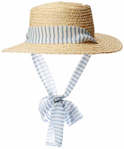ラフィアブレードカンカン帽 SHIRLEY HAT アイボリー 日本 FREEの1枚目の写真