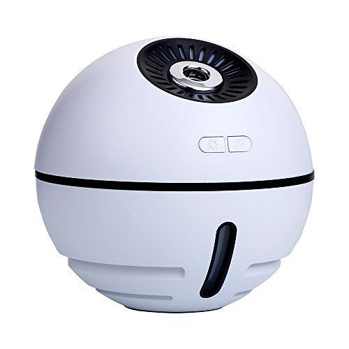 ACATIM USB加湿器 充電式加湿器 スペースボール型 卓上加湿器 5in1多機能加湿器 大容量 300ML 静音 ムードランプ付き 超音波式 10時間連続加湿 空焚き防止機能搭載の1枚目の写真