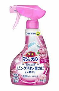 バスマジックリン 泡立ちスプレー スーパークリーン アロマローズの香り 本体 380mlの1枚目の写真