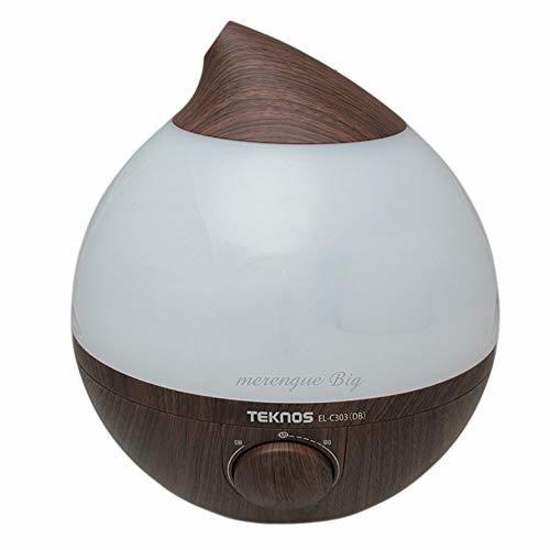 TEKNOS 滴型超音波加湿器 3.6 メレンゲ ダークブラウン EL-C303-DBの1枚目の写真