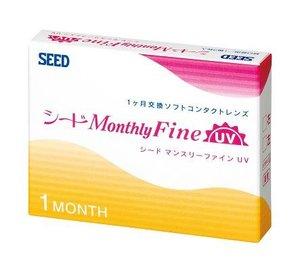 シード マンスリーファインUV SEED Monthly Fine UV DIA:14.0,BC:8.80,PW:-4.25 @ 1monthの1枚目の写真