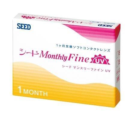 シード マンスリーファインUV SEED Monthly Fine UV DIA:14.0,BC:8.80,PW:-5.25 @ 1monthの1枚目の写真