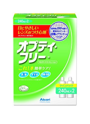 日本アルコン オプティ・フリー 洗浄・消毒・保存液(ソフト用) 240mLx2の1枚目の写真