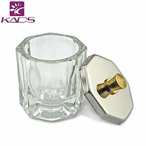 KADS 八角形ネイルダッペンディッシュ フタ付き ガラス製 筆洗いガラス容器 ジェルネイル用筆洗浄の1枚目の写真