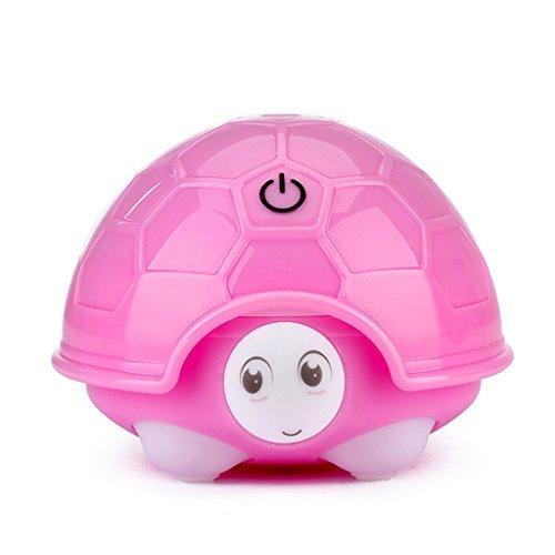 タータス加湿器ミニ超音波家庭用デスクトップ水道メーターカラフルなナイトライト加湿器12 * 10.7 * 8.1CM,Pinkの1枚目の写真