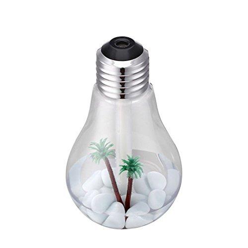 電球加湿器カラフルナイトライトアトマイゼーション加湿器15.3 * 8.8 * 8.8CM,Silverの1枚目の写真