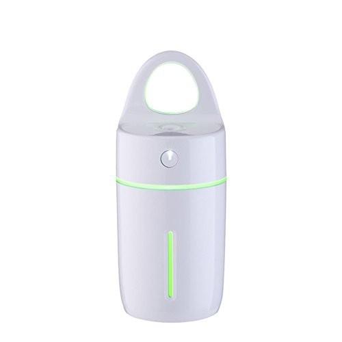 カップLEDカラフルなナイトライトホームミニ加湿器オフィスデスクトップカー浄化加湿器6 * 6 * 15.8Cm,Whiteの1枚目の写真