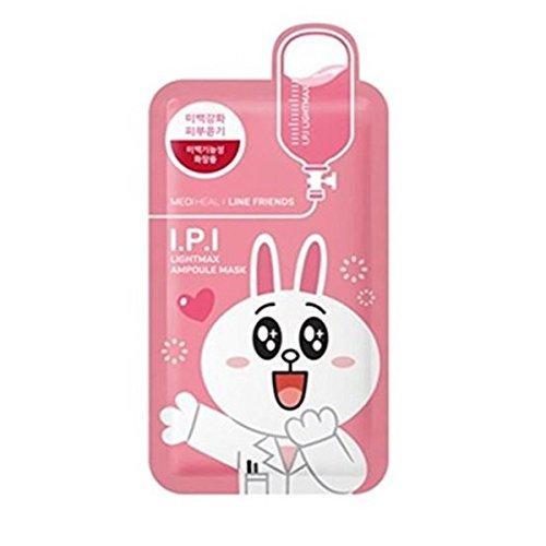 メディヒール × ラインフレンズ I.P.I ライトマックス アンプル マスク 10枚セット 韓国コスメ MEDIHEAL LINE FRIENDS ライン IPI パックの1枚目の写真