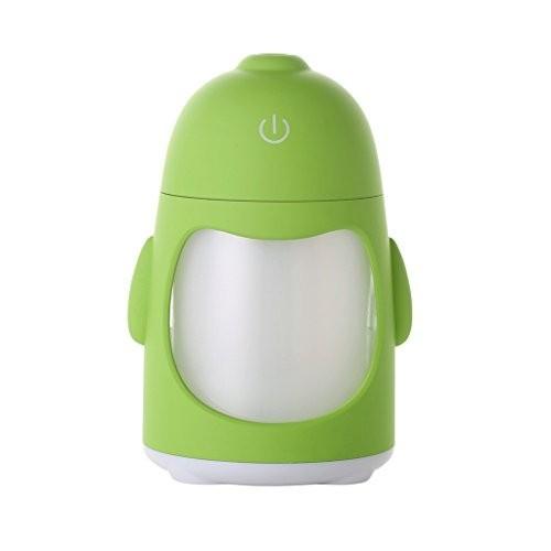 ペンギンナイトライト加湿器ミニUSBサイレント家庭用オフィスアロマセラピーアトマイザー7.6 * 8.5 * 12.4Cm,Greenの1枚目の写真