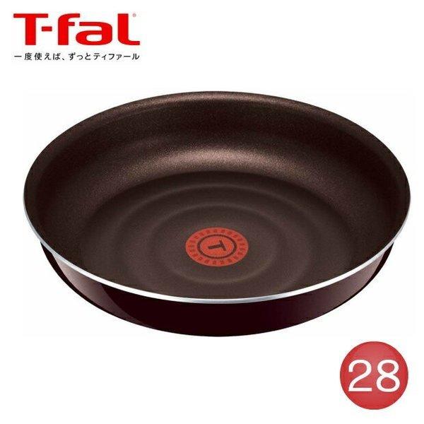 フライパン t-fal ティファール インジニオ マホガニープレミア フライパン 28cm T-fal ティファール(IH使用不可)の1枚目の写真