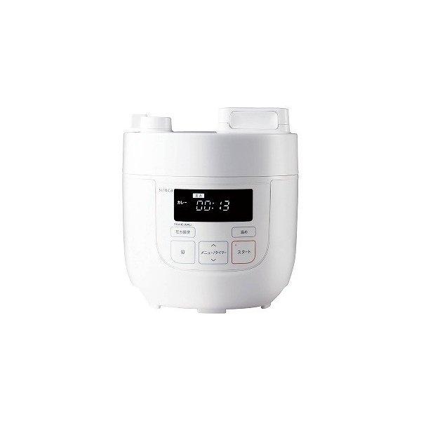 siroca 電気圧力鍋 SP−D121 色 ホワイト