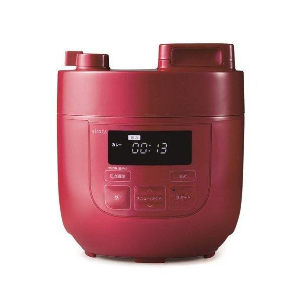 siroca 電気圧力鍋 SP−D121 色 レッド