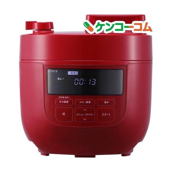siroca 電気圧力鍋 SP-4D151 ホワイト 色 レッド