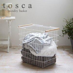 洗濯カゴ 洗濯かご 洗濯物入れ おしゃれ 収納 ワイヤーバスケット ランドリーバスケット トスカ Lの1枚目の写真