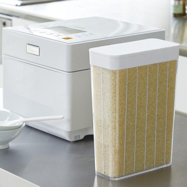 米びつ スリム 白 おしゃれ 1合分別 冷蔵庫米びつ プレート 03822の1枚目の写真