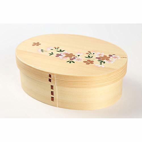曲げわっぱ まげわっぱ 弁当箱 |木目 桜一段 弁当箱 PH01W-2の1枚目の写真